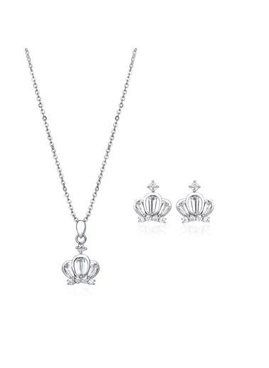 Tophills Diamond Co. 1,50 Ct Pırlanta Efekt Altın Chic Crown Set Renkli